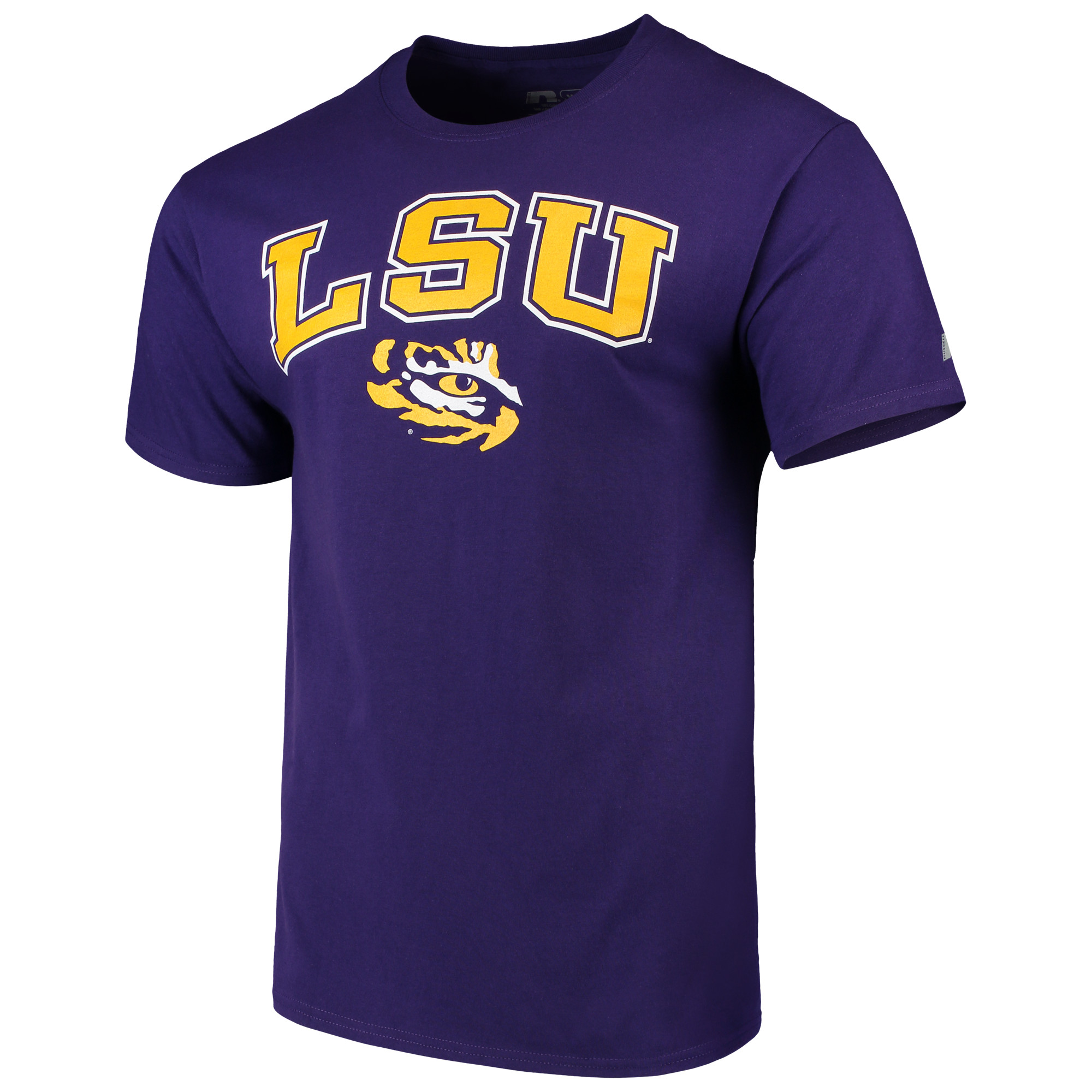 Men's Russell Purple LSU Tigers Crew Core Print T-Shirt