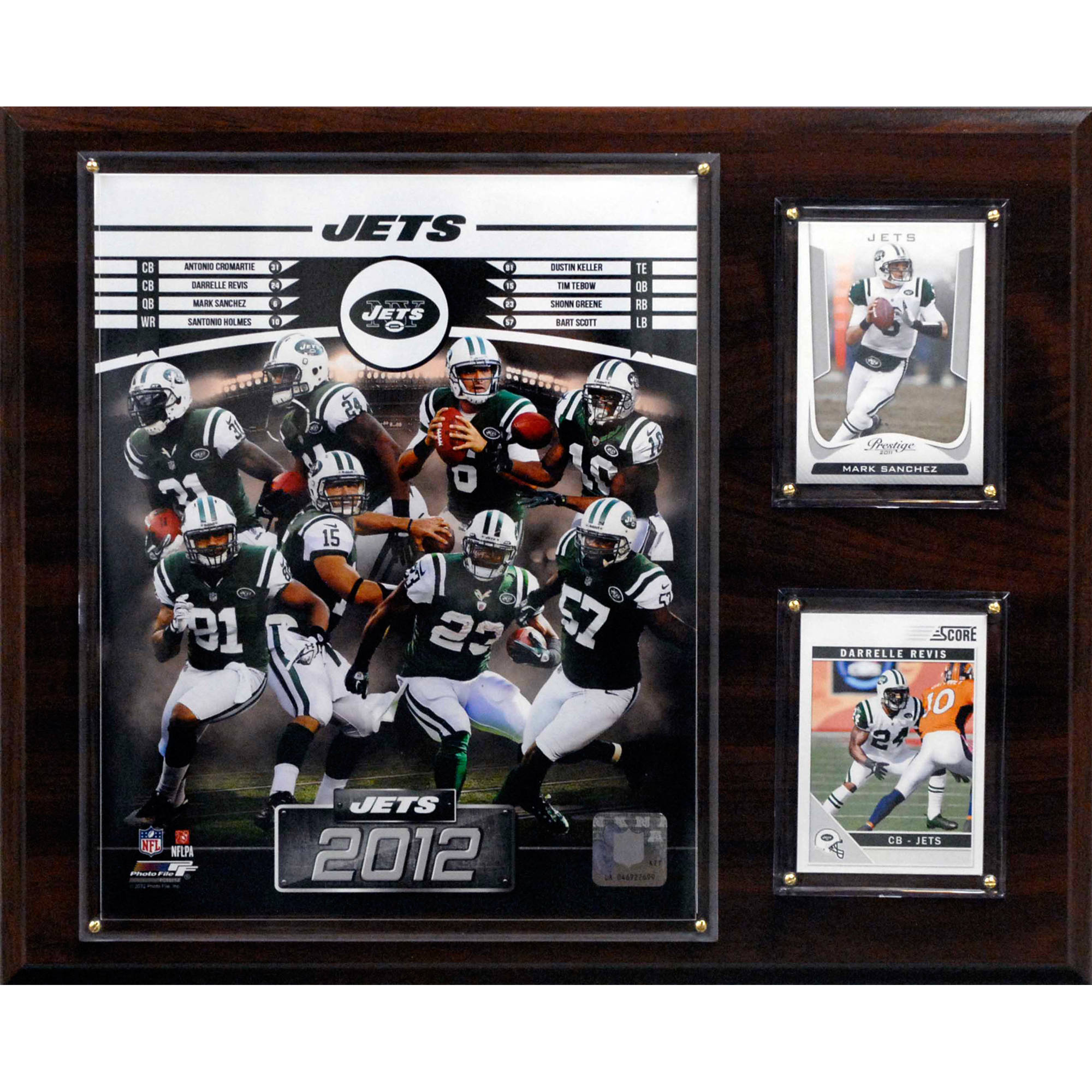 C&I Collectables NFL 12x15 New York Jets 2012 Team Plaque