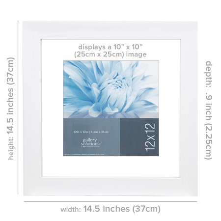Gallery Solutions 12X12 White Float Frame For Floating Display of ...