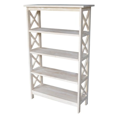 International Concepts 4 Tier X Sided Shelf Unit  Unfinished