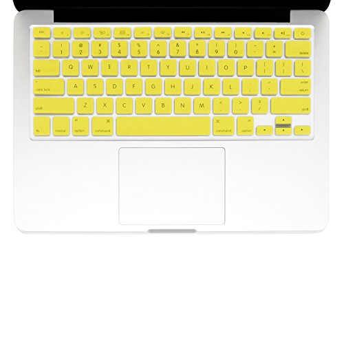 "Summer Flower Print Yellow Silicone Keyboard Cover for Macbook 13/"" 15/"" 17/"""