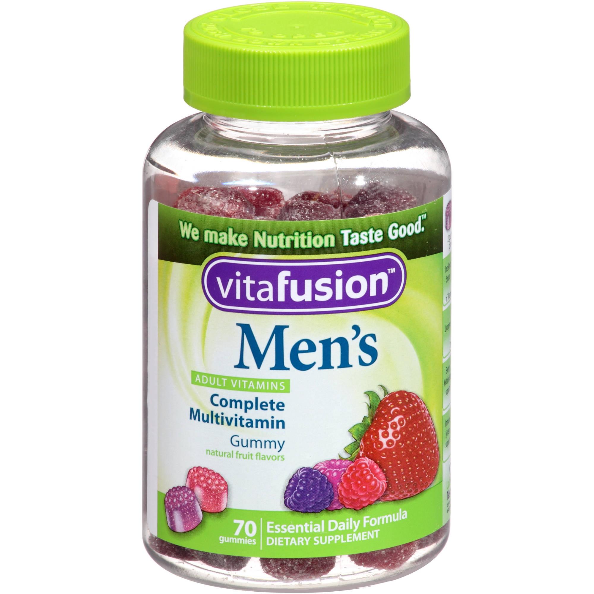 Vitafusion Men's Gummy Vitamins Complete MultiVitamin Formula, 70 count