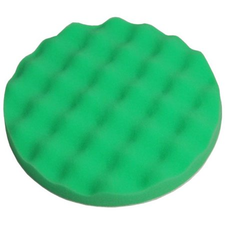 "8"" Green Waffle Fine Foam Buffing Grip Pad Final Cut"