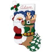 Design Works™ Santa & Deer Stocking Kit