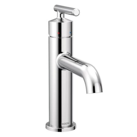 Moen 6145 Gibson Single Hole Bathroom Sink Faucet with Pop-Up Drain ...