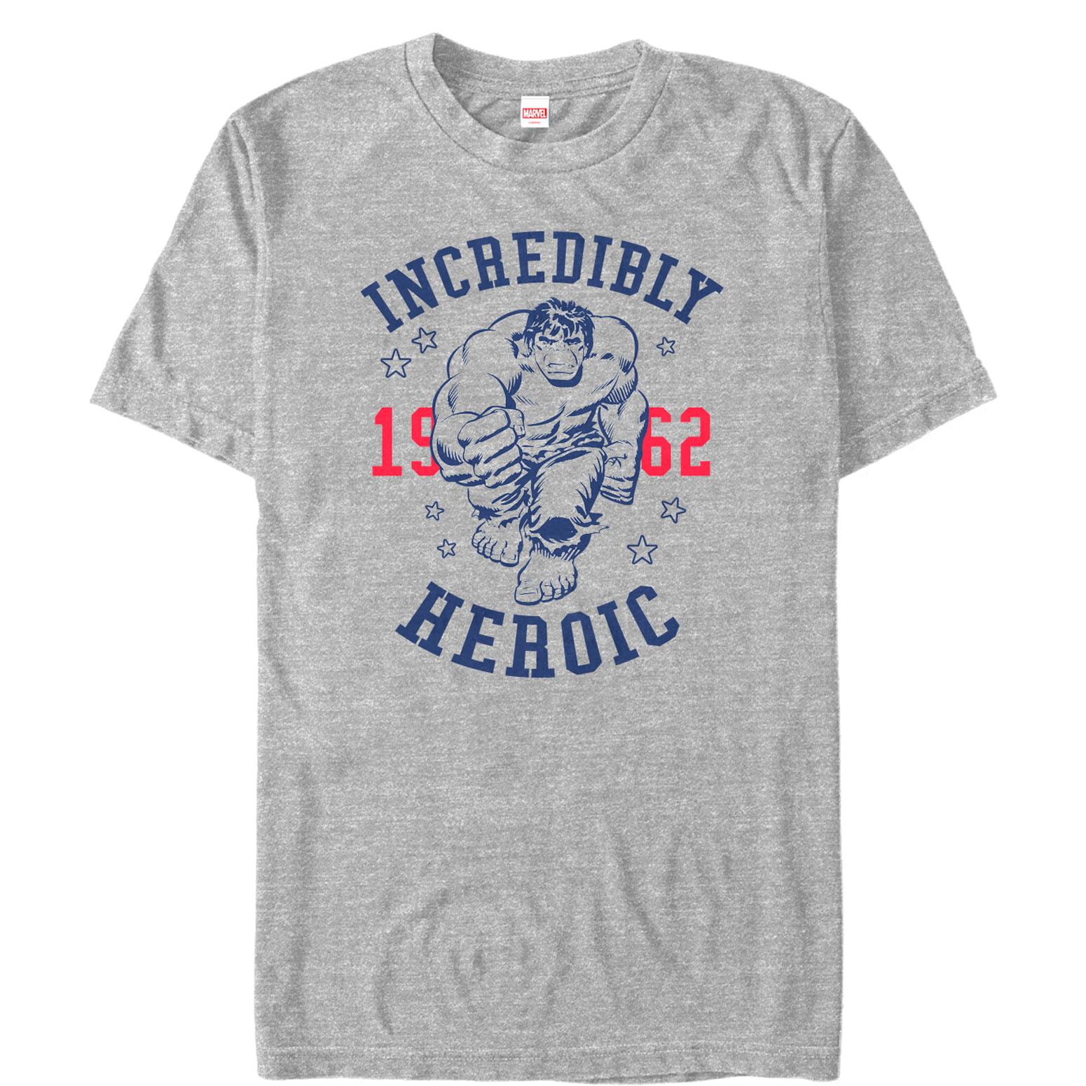Marvel Men's 4th of July Hulk Incredibly Heroic 1962 T-Shirt