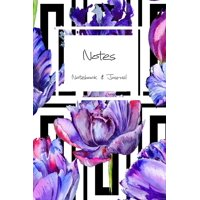 Notes Notebook Journal : for florists, wedding planner, bride's maid gift, wedding decorators with floral purple tulip cover