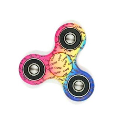 Tri-Spinner Fidget Spinner Rainbow Camp Spinner Design Toy Stress Reducer Ball Bearing - May help with ADD, ADHD, Anxiety, and Autism Adult Children