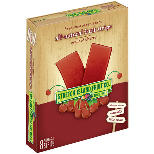 Stretch Island Fruit Co. All-Natural Orchard Cherry Fruit Leathers, 0.5 Oz., 8 Count