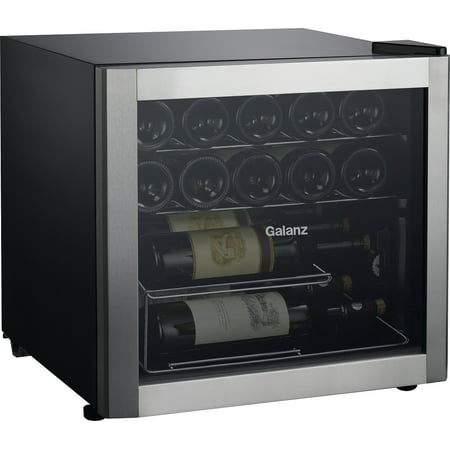 Galanz 16-Bottle Wine Cooler GLW18S, Stainless Steel Steel
