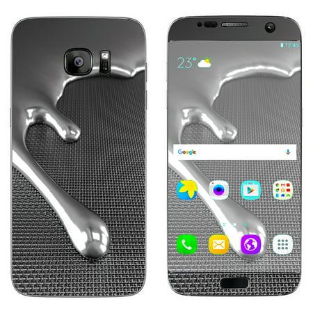 Skin Decal For Samsung Galaxy S7 Edge / Dripping Metal Liquid Mercury