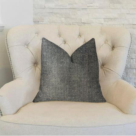 Plutus PBKR1979-2030-DP Deep Mantra Charcoal Luxury Throw Pillow, 20 x 30 in. Queen - image 2 de 3
