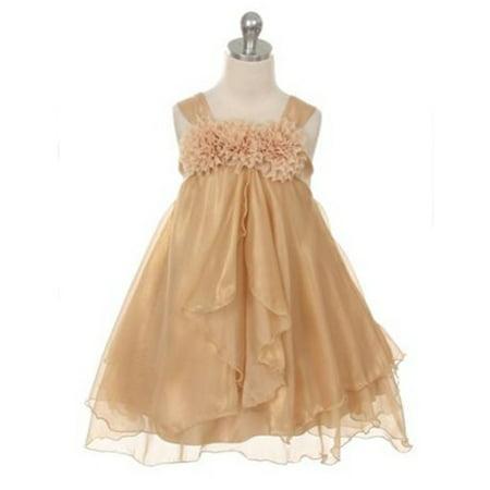 Efavormart Shimmery Chiffon Flower Girl Dress Birthday Girl Dress Junior Flower Girl Wedding Party Gown Girls Dress For Wedding