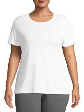 Athletic Works Women's Plus Size Active Crew Neck T-Shirt