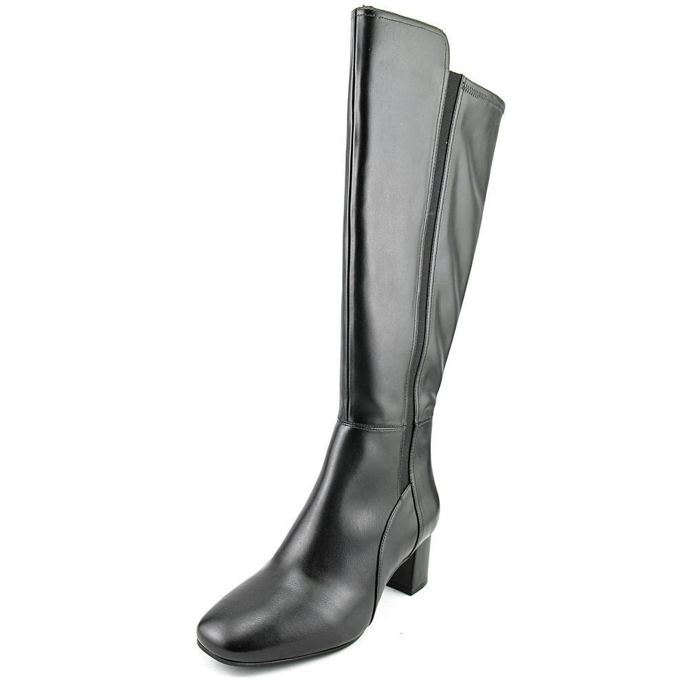 Naturalizer Naples Wide Calf Women Round Toe Synthetic Black Knee High Boot by Naturalizer