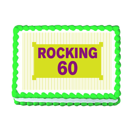Rocking 60 60th Birthday Edible Photo Image Cake Topper