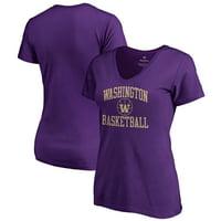 Washington Huskies Fanatics Branded Women's In Bounds V-Neck T-Shirt - Purple