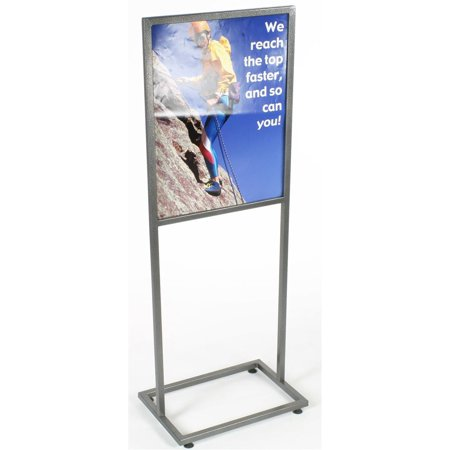 Free-Standing Metal Sign Frame for 22 x 28 Graphics, Top Loading ...