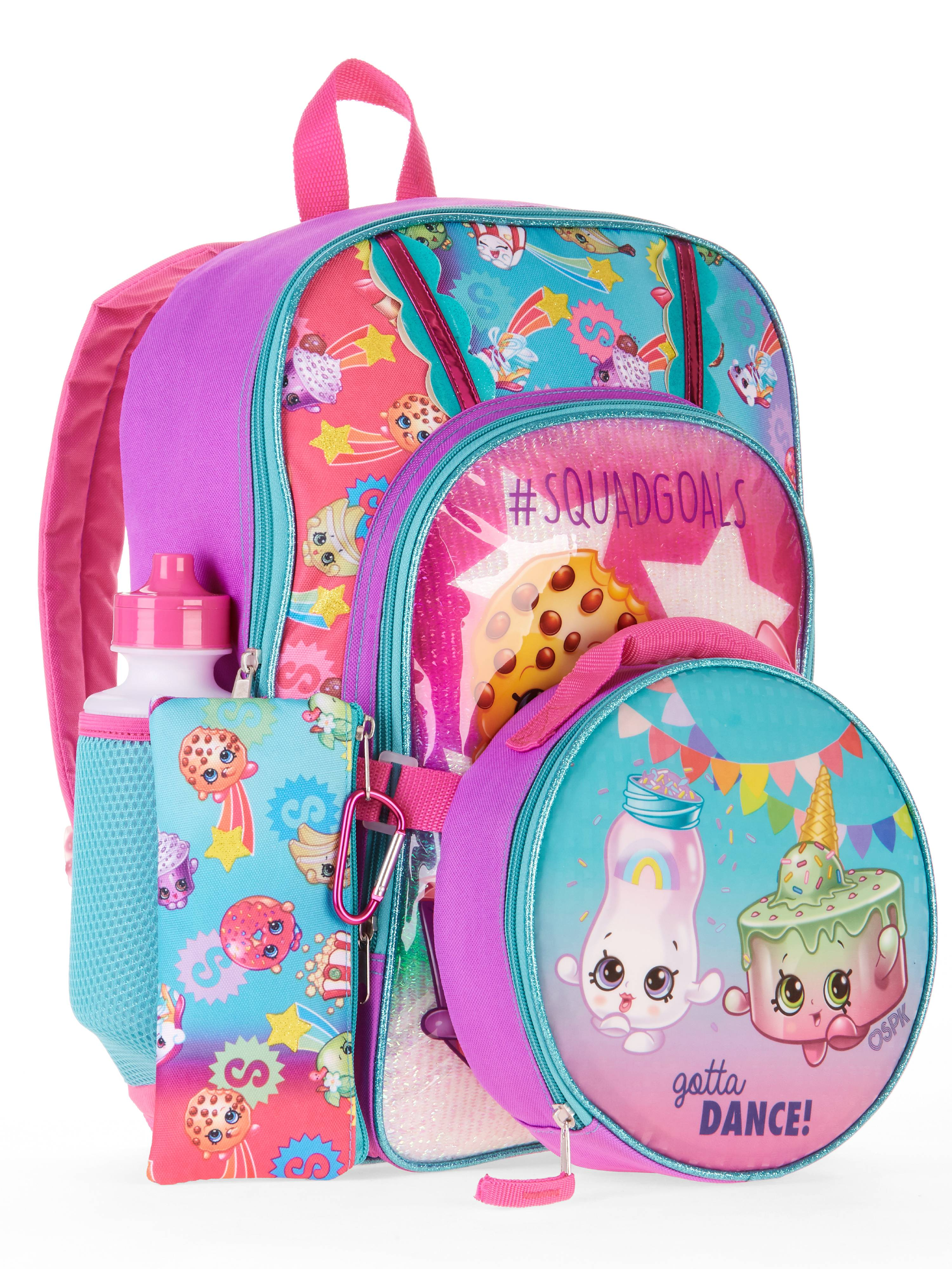 Shopkins 5-Piece Backpack Set With Lunch Bag by Generic