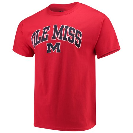 Men's Russell Red Ole Miss Rebels Core Print T-Shirt
