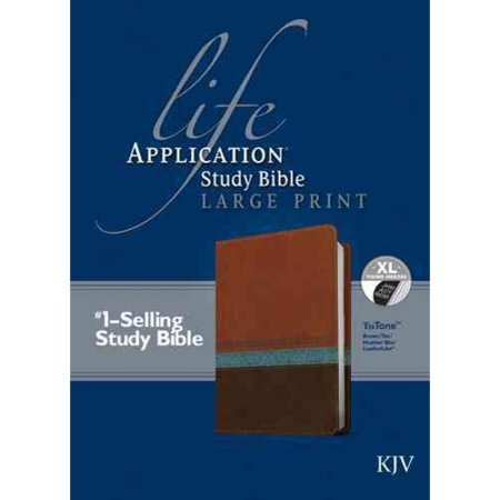 Life Application Study Bible: King James Version, Brown Tan Heather Blue, Leatherlike by
