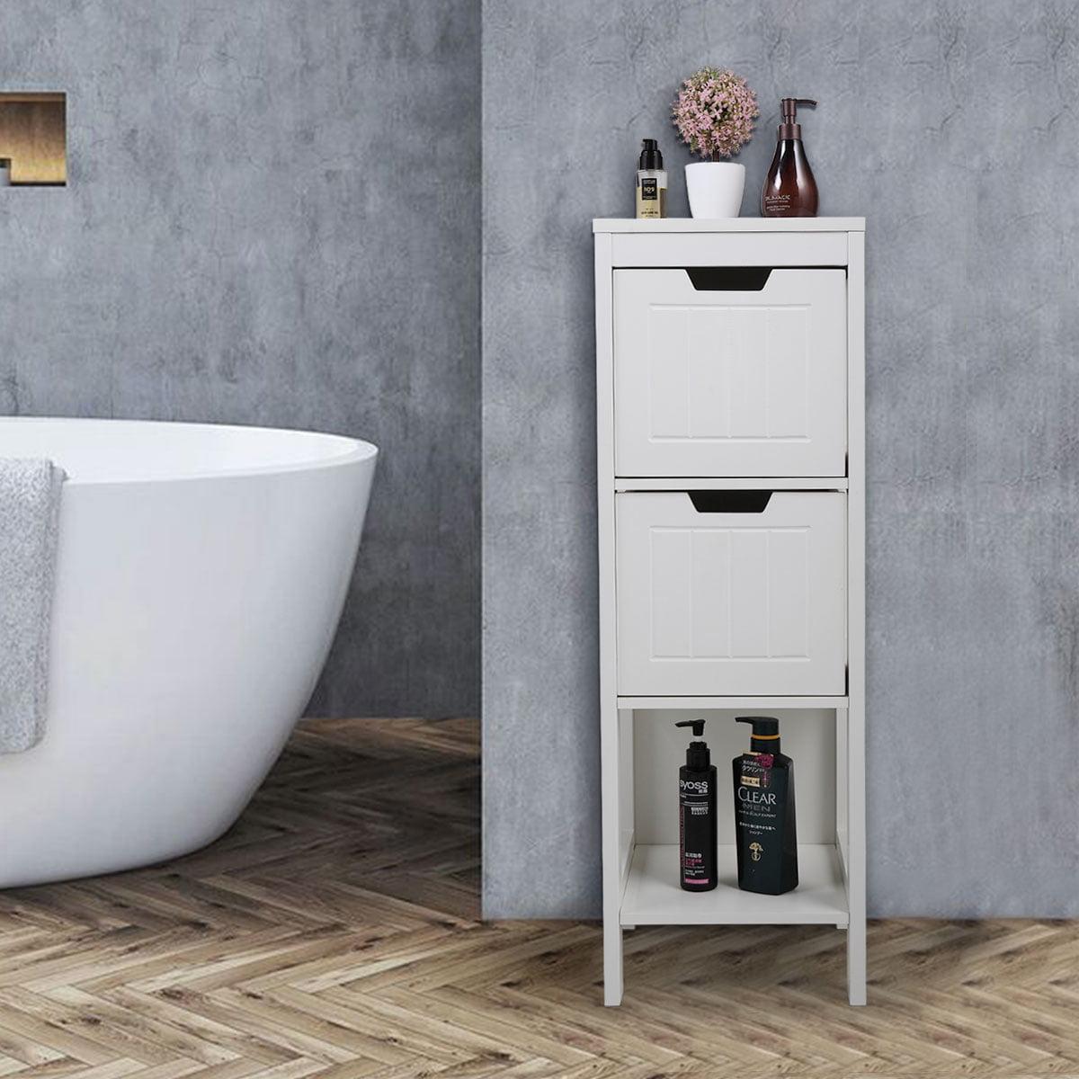 Veryke Bathroom Storage Cabinets, Floor Bathroom Cabinets ...