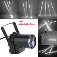 30W RGB LED Stage Light Lighting Pinspot Beam Spotlight 6CH DJ DISCO Party Lamp