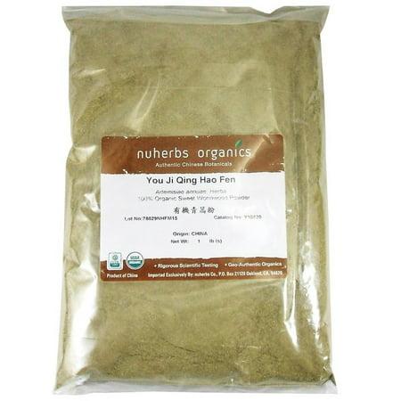 Wormwood Herb Powder (Nuherbs Certified Organic Artemisia Annua Powder 1lb Bulk Sweet Wormwood Qing)