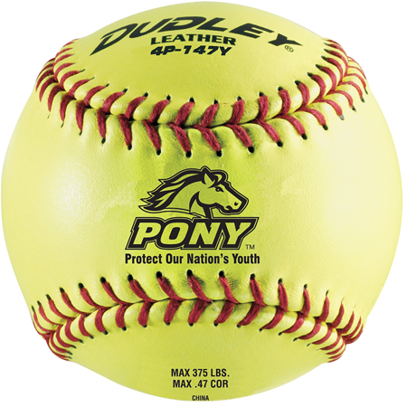 """Dudley 12"""" Pony League Leather Fastpitch Softball"""