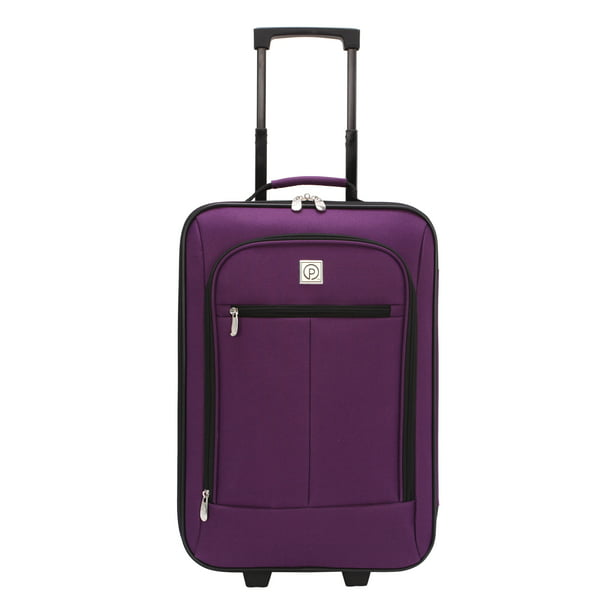 "Protege Pilot Case 18"" Carry-On Luggage, Purple,19.25"" x 6.5"" x 12.5"" (Walmart Exclusive)"