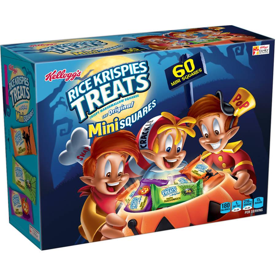 Kellogg's Rice Krispies Treats Original Marshmallow Mini Squares 60ct Halloween