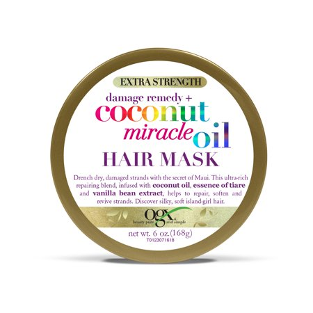 OGX Extra Strength Damage Remedy + Coconut Miracle Oil Hair Mask, 6