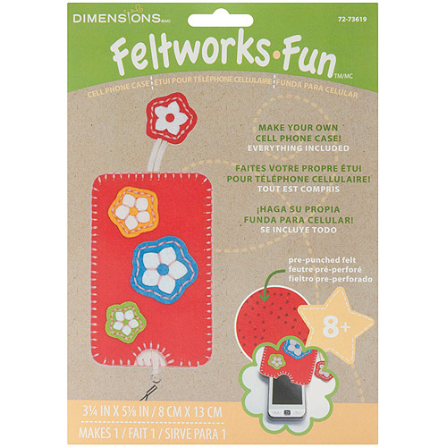 Dimensions Feltworks Fun Cell Phone Case Kit, Red