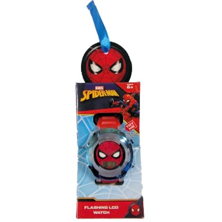 Spider Man Flashing LCD Kids Watch (Blue Chrome)