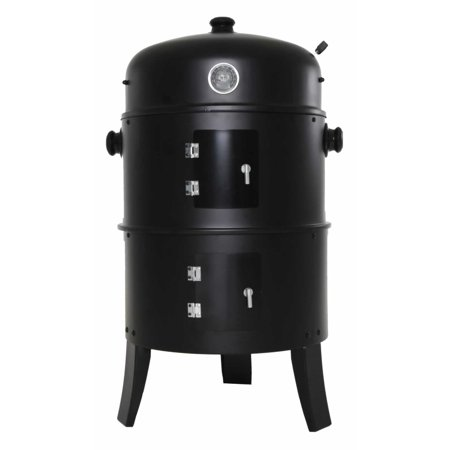 Zenvida Charcoal Grill & Smoker 14 Inch Vertical BBQ