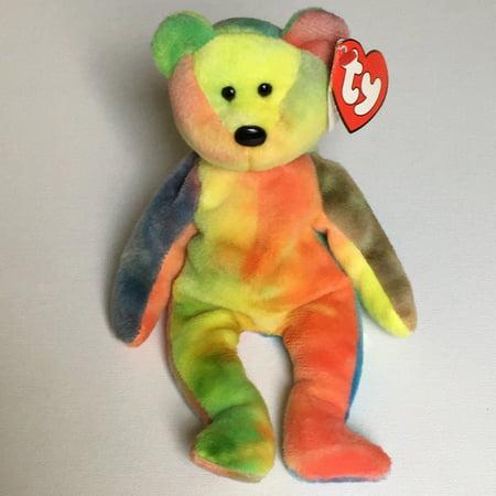 Ty Beanie Babies Garcia Tie Dye Bear Plush Toy - 8