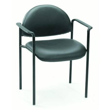 Boss Office Products Diamond Stacking Chair with -