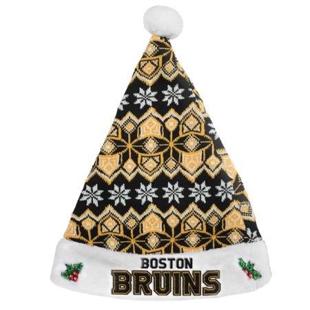 Boston Bruins Knit Santa Hat - No Size (Knit Santa Hat)