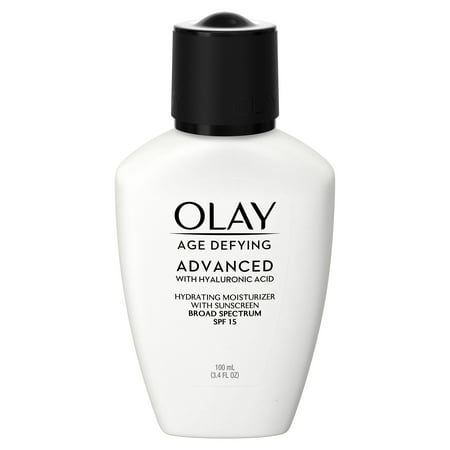 Olay Age Defying ADVANCED with Hyaluronic Acid Hydrating Moisturizer with SPF 15, 3.4 fl oz