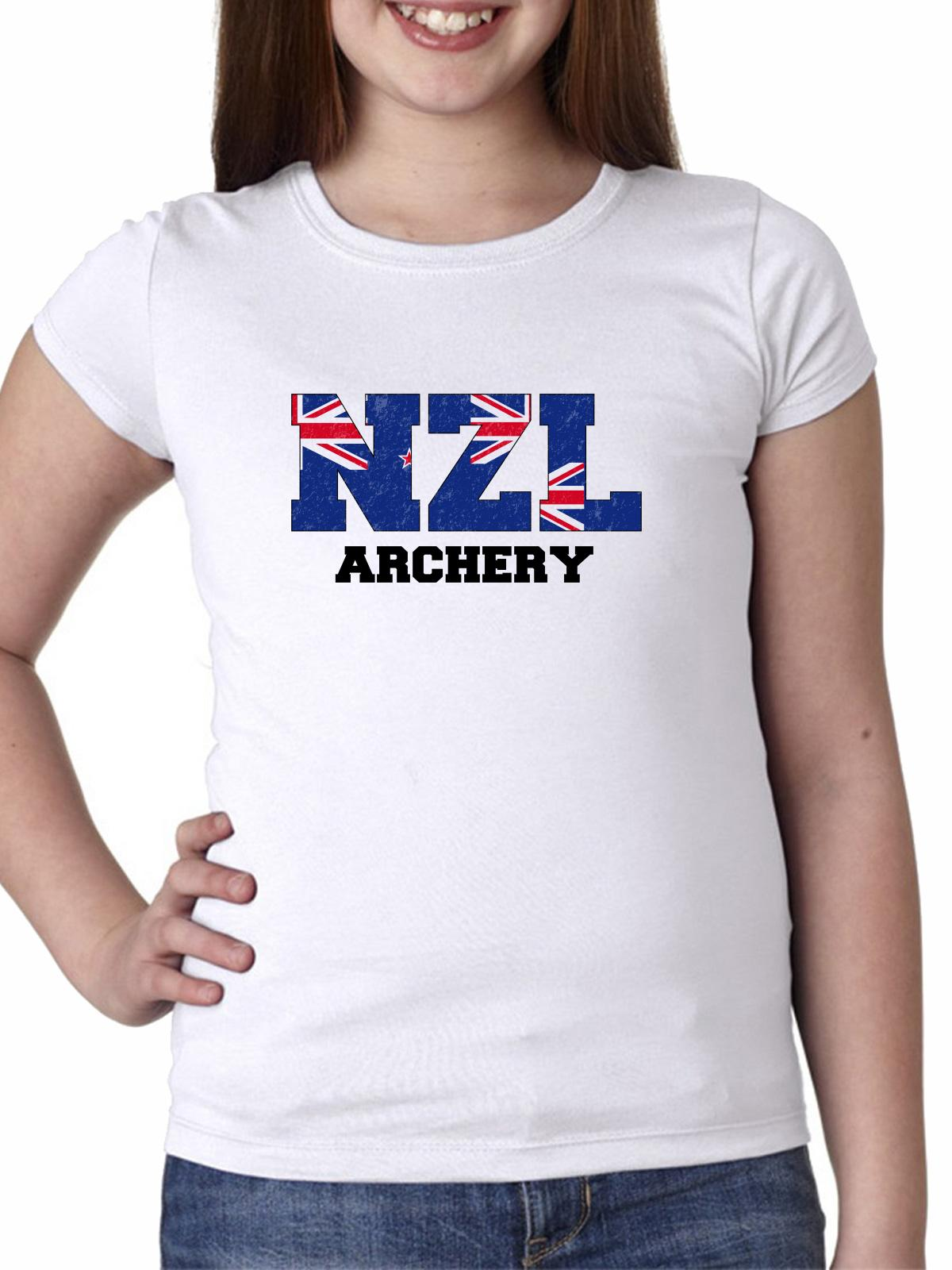 New Zealand Archery - Olympic Games - Rio - Flag Girl's Cotton Youth T-Shirt