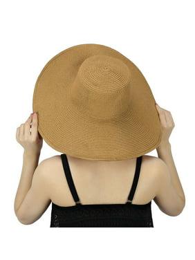e249387f941aee Free shipping. Product Image Women's Summer Lady Floppy Straw Hat Sun Beach  Fashion Cap Bow Foldable Wide Brim