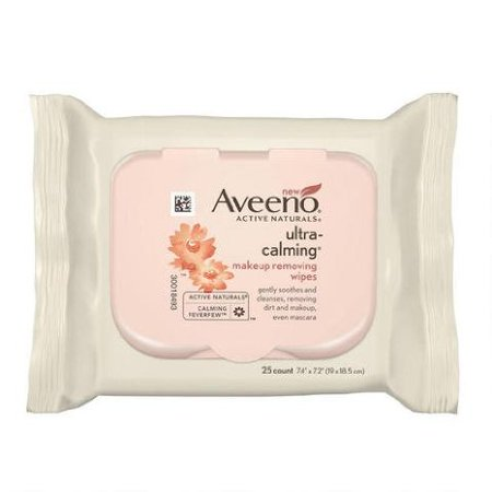 12 PACKS : Aveeno Ultra Calming Makeup Removing Wipes, 150 Count ,Aveeno-t5 ()