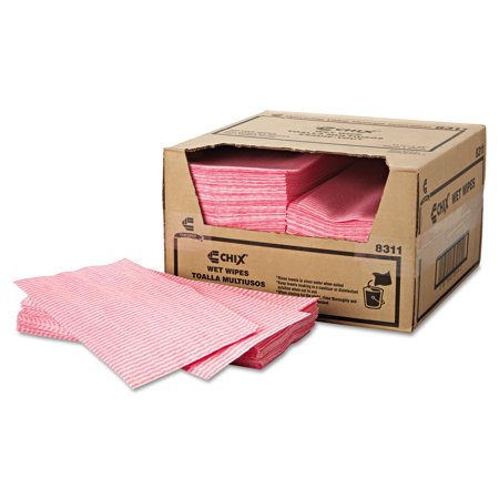 Chix White/Pink Wet Wipes, 200 count