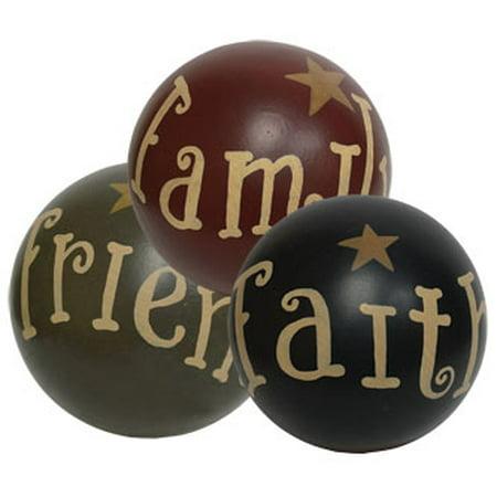 Faith Family Friends w/Star Decorative Ball - Assorted - Decorative Disco Balls