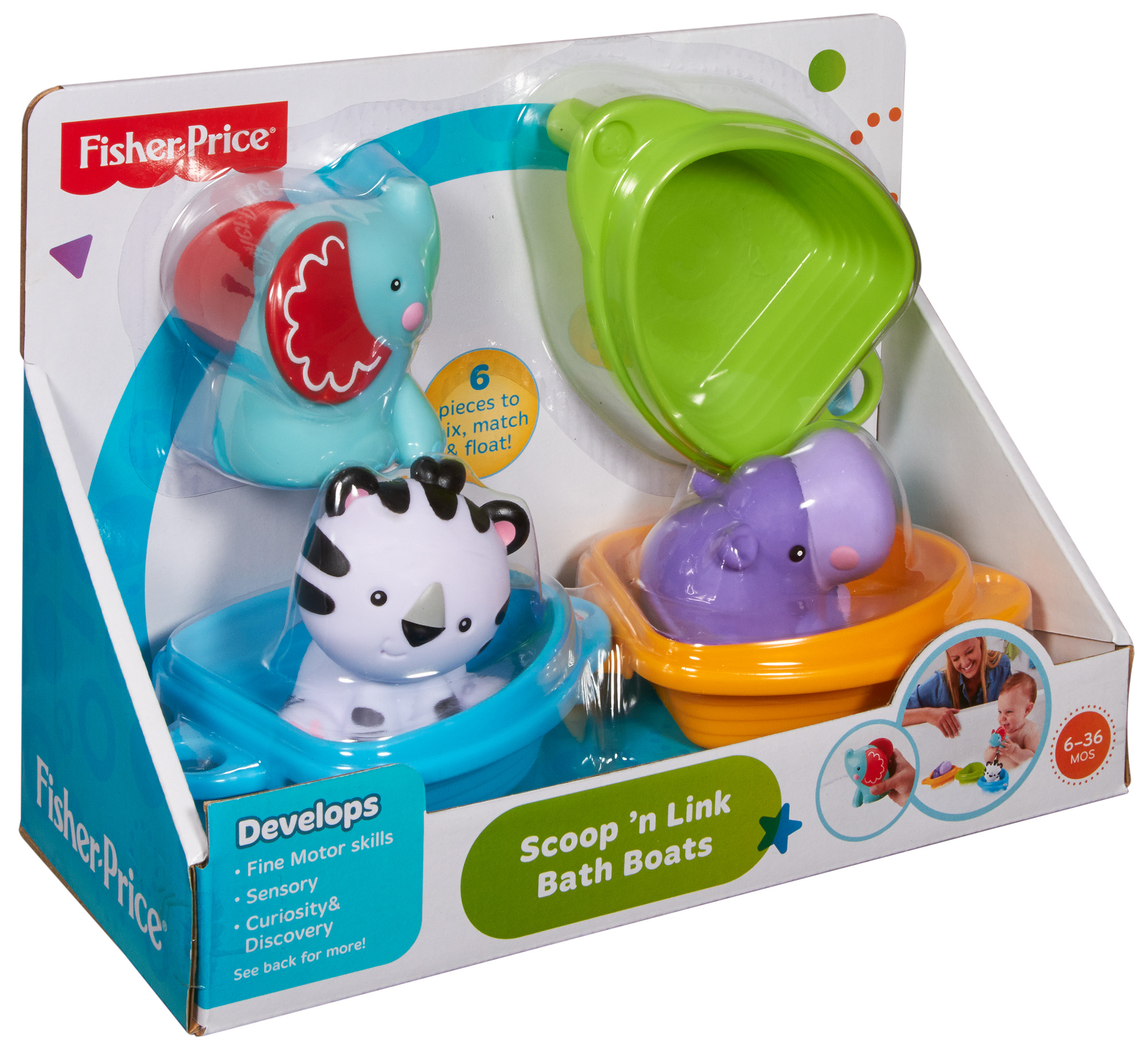Fisher Price Scoop �n Link Bath Boats by Fisher-Price