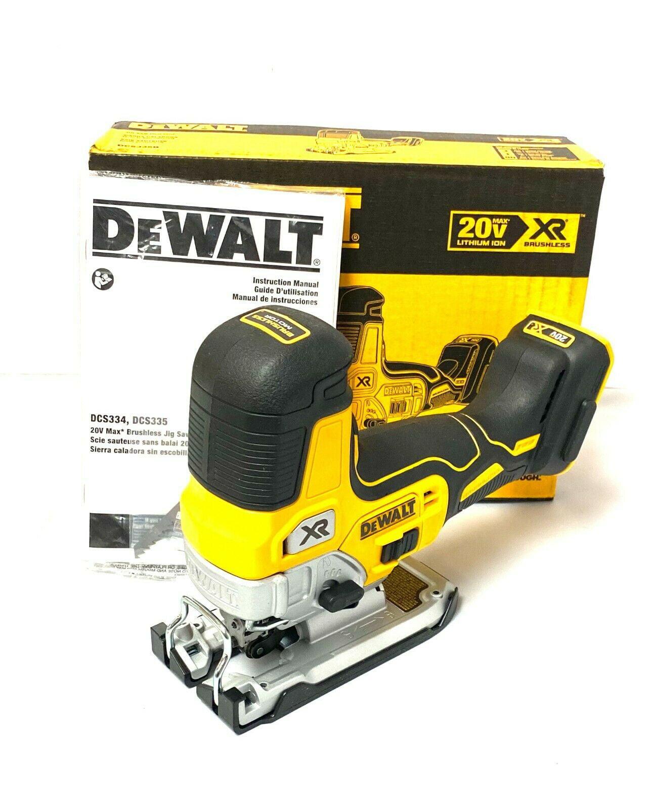 DeWalt DCS335 18V XR Brushless Grip Jigsaw with 20 Piece Wood /& Metal Blade Set