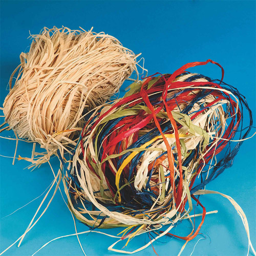 Treated Raffia-Natural-12 oz