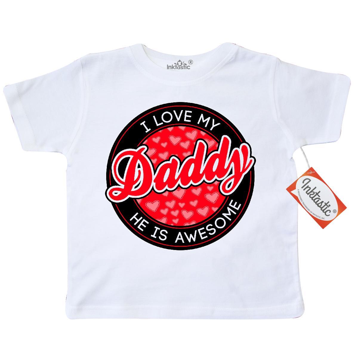 Inktastic I Love My Daddy Toddler T Shirt Dad Valentines
