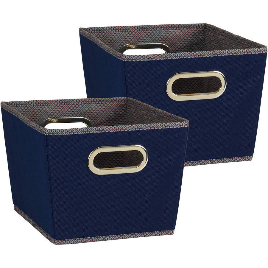 Household Essentials Small Tapered Bins, 2-Piece Set