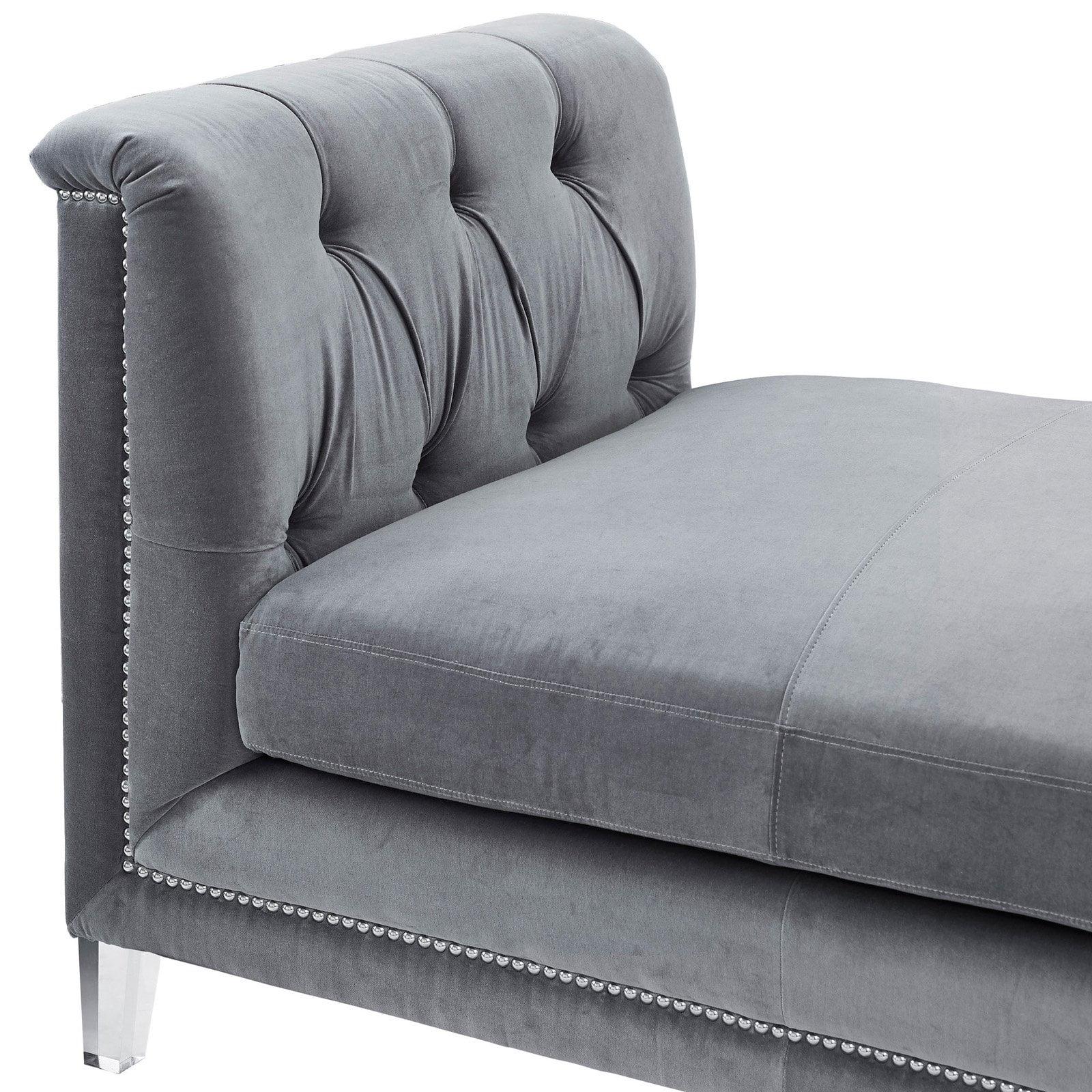 TOV Furniture Naomi Loveseat - Grey